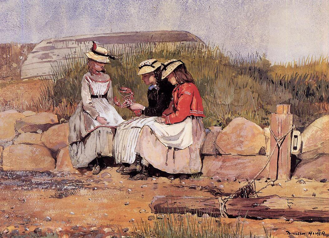 Winslow Homer. Girls with lobster (Daughters of the fishermen)