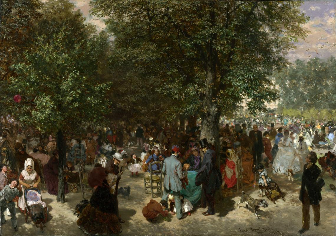 Адольф фон Менцель. Во второй половине дня в саду Тюильри