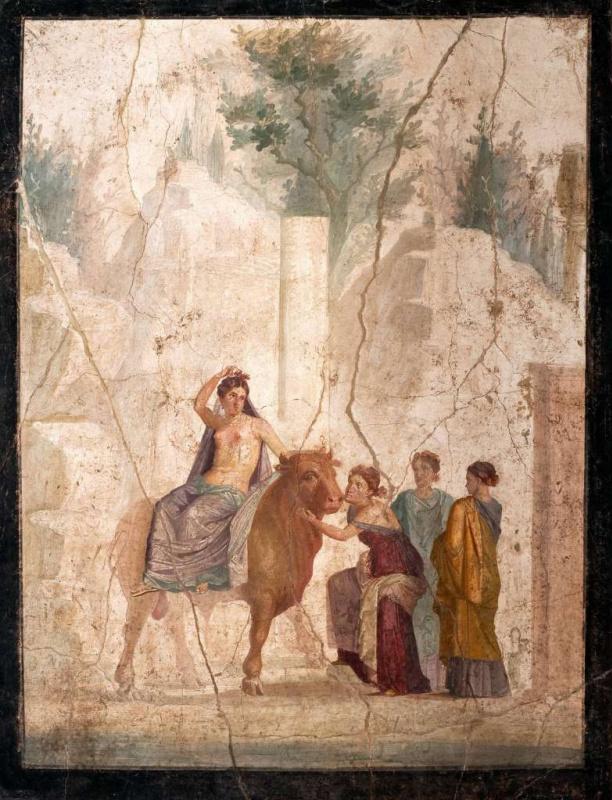 Шедевры  неизвестных художников. Похищение Европы (Европа на быке). Помпейская фреска