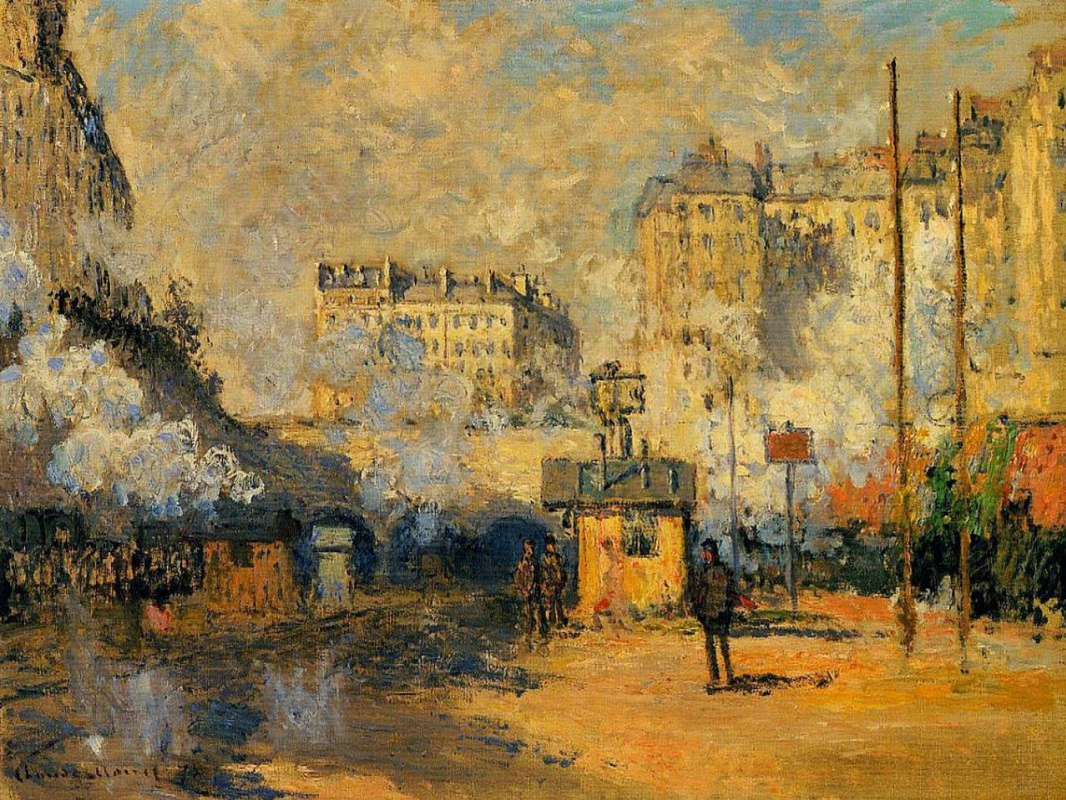 Claude Monet. The appearance of the Saint-Lazare train station, the sun-drenched