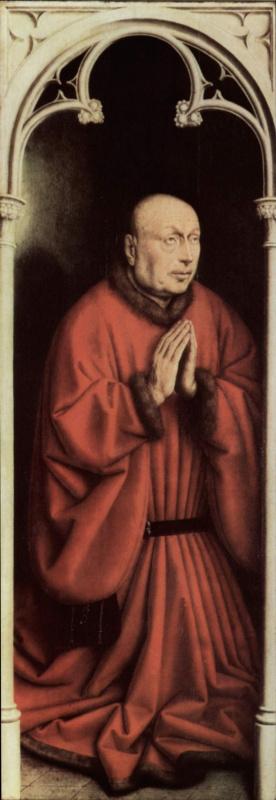 Губерт ван Эйк. Портрет заказчика. Гентский алтарь, фрагмент.