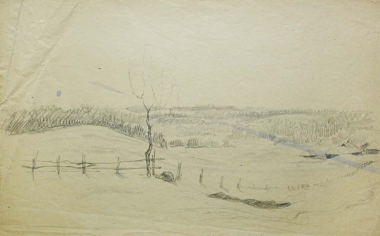 Vladimir Dmitrievich Derviz. Landscape. Domotkanovo