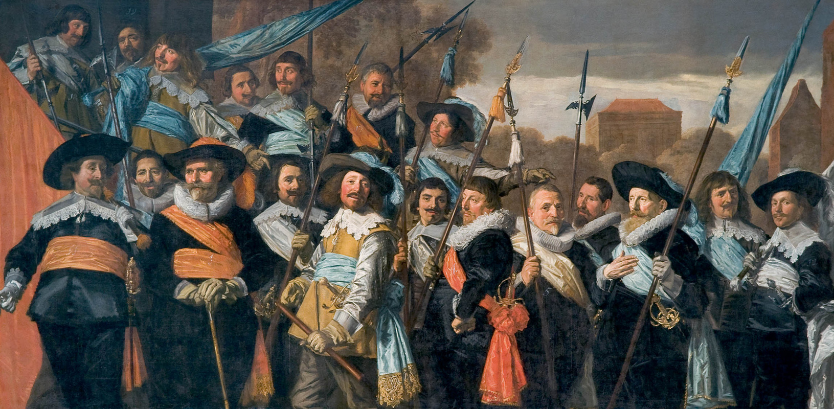 Frans Hals. Group portrait of officers and sergeants in a rifle company of St. George