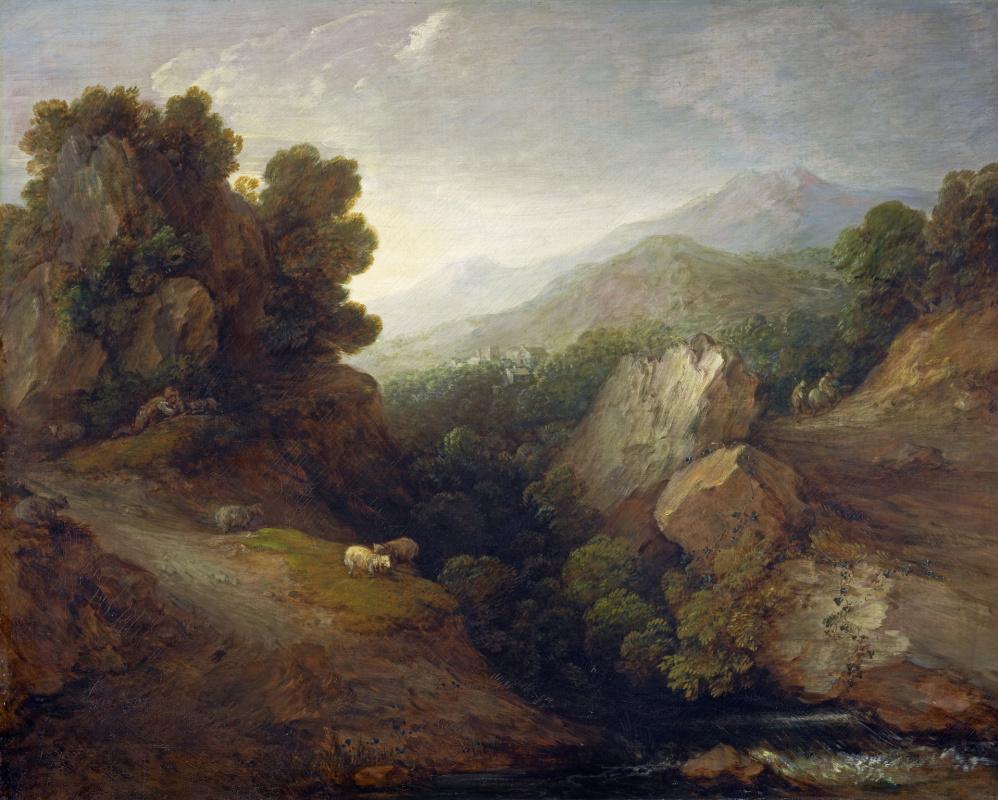 Томас Гейнсборо. Горный пейзаж с  пасущимися овцами