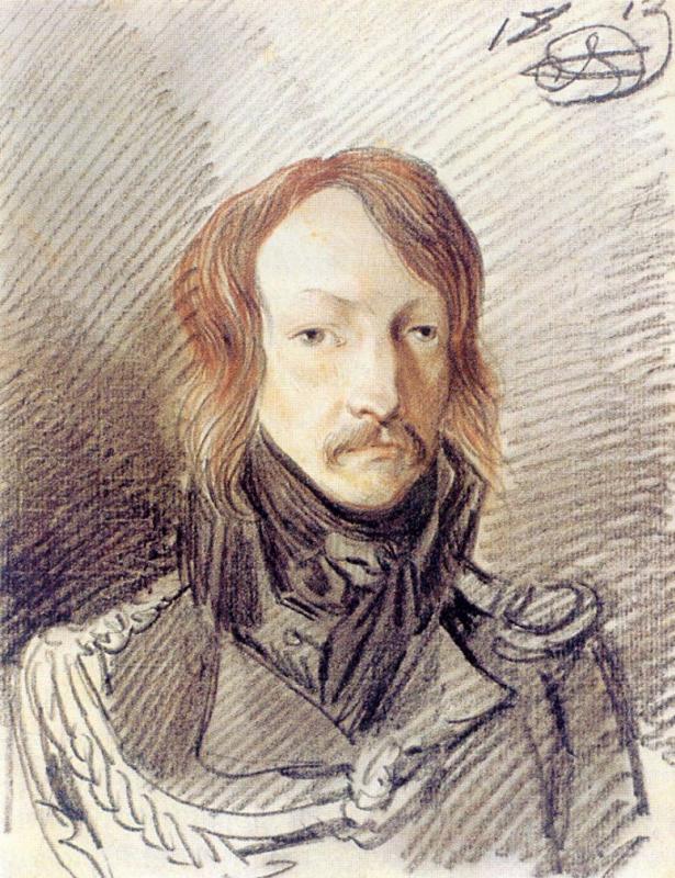 Александр Осипович Орловский. Портрет А. П. Ланского