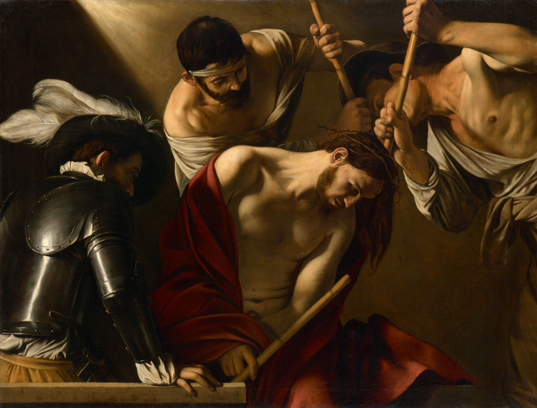 Michelangelo Merisi de Caravaggio. Crowning with a crown of thorns