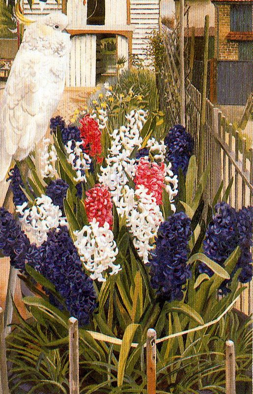 Stanley Spencer. Flowers and bird