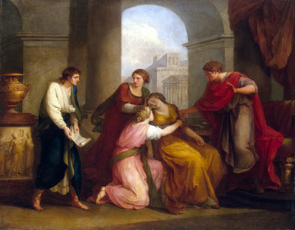 Ангелика Кауфман. Вергилий, читающий Энеиду Октавии и Октавиану-Августу