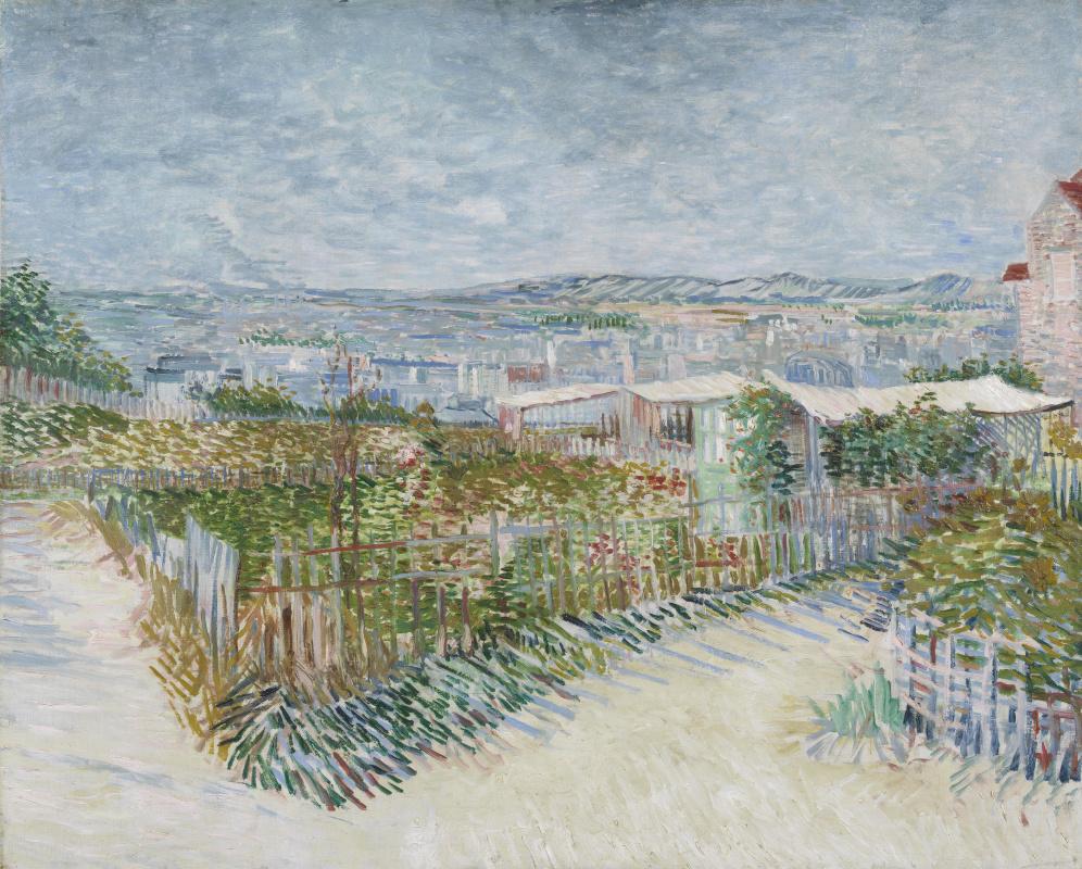 Винсент Ван Гог. Монмартр, пейзаж за мельницами