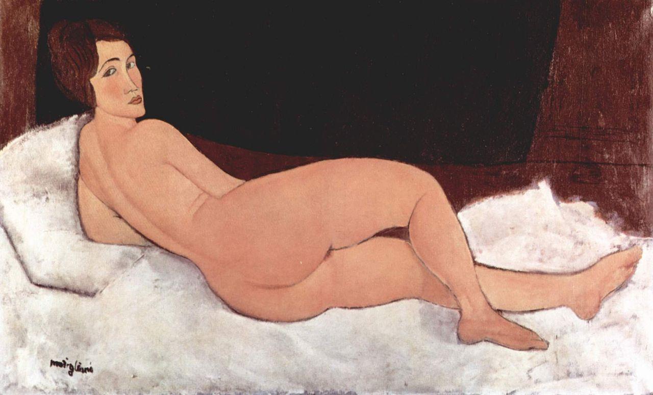 Амедео Модильяни. Картина из серии «Лежащая обнажённая»