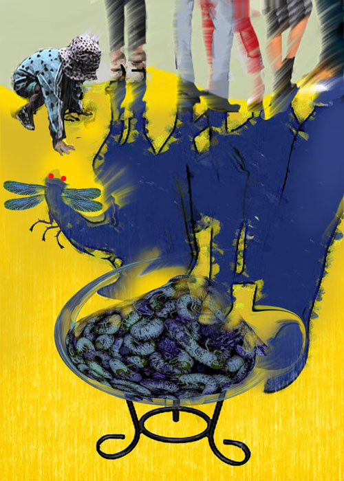 Victor Tanyukevich. Yellow blue lunch