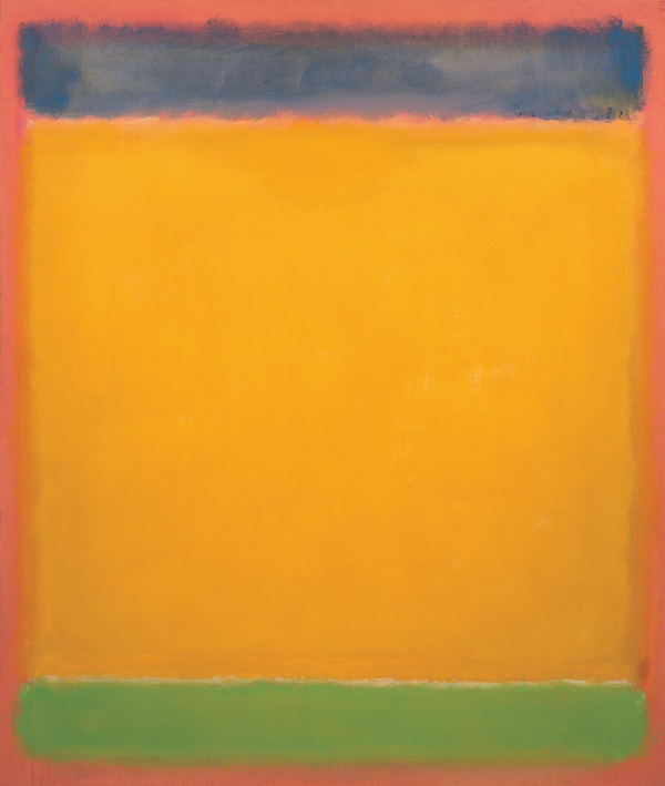 Rothko Mark. Untitled (Blue, yellow and green on red)