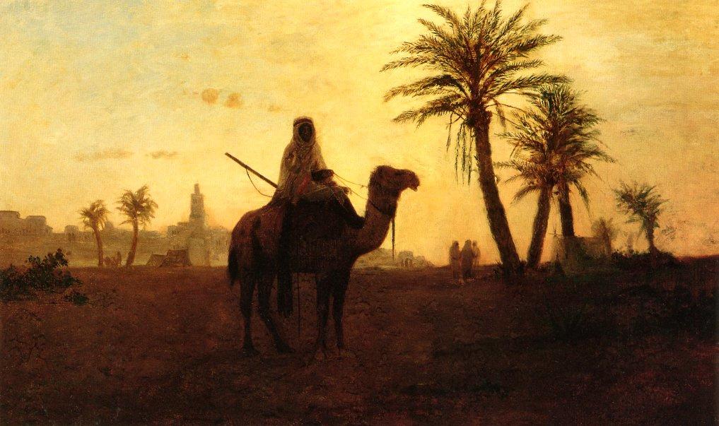 Karl Theodor Frer. Near the oasis