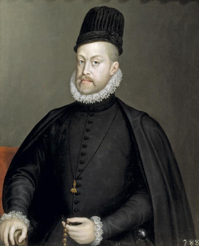 Софонисба Ангиссола. Филипп ІІ, король Испании