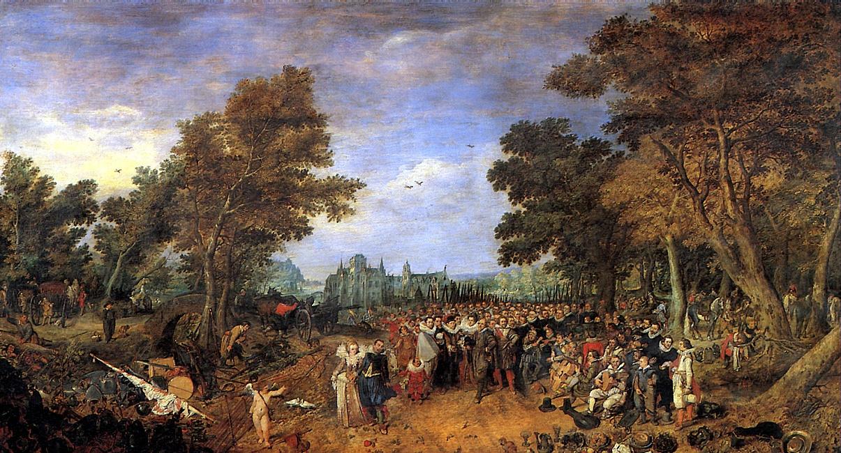Adrian van de Vennes. Allegory of the truce