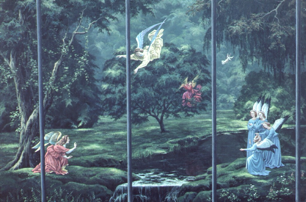 Evelyn Taylor. Angels in the garden