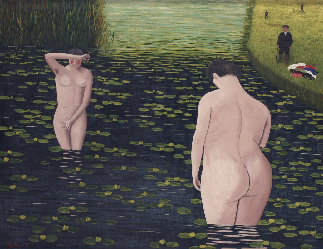 Camille Bombua. The surprised bathers