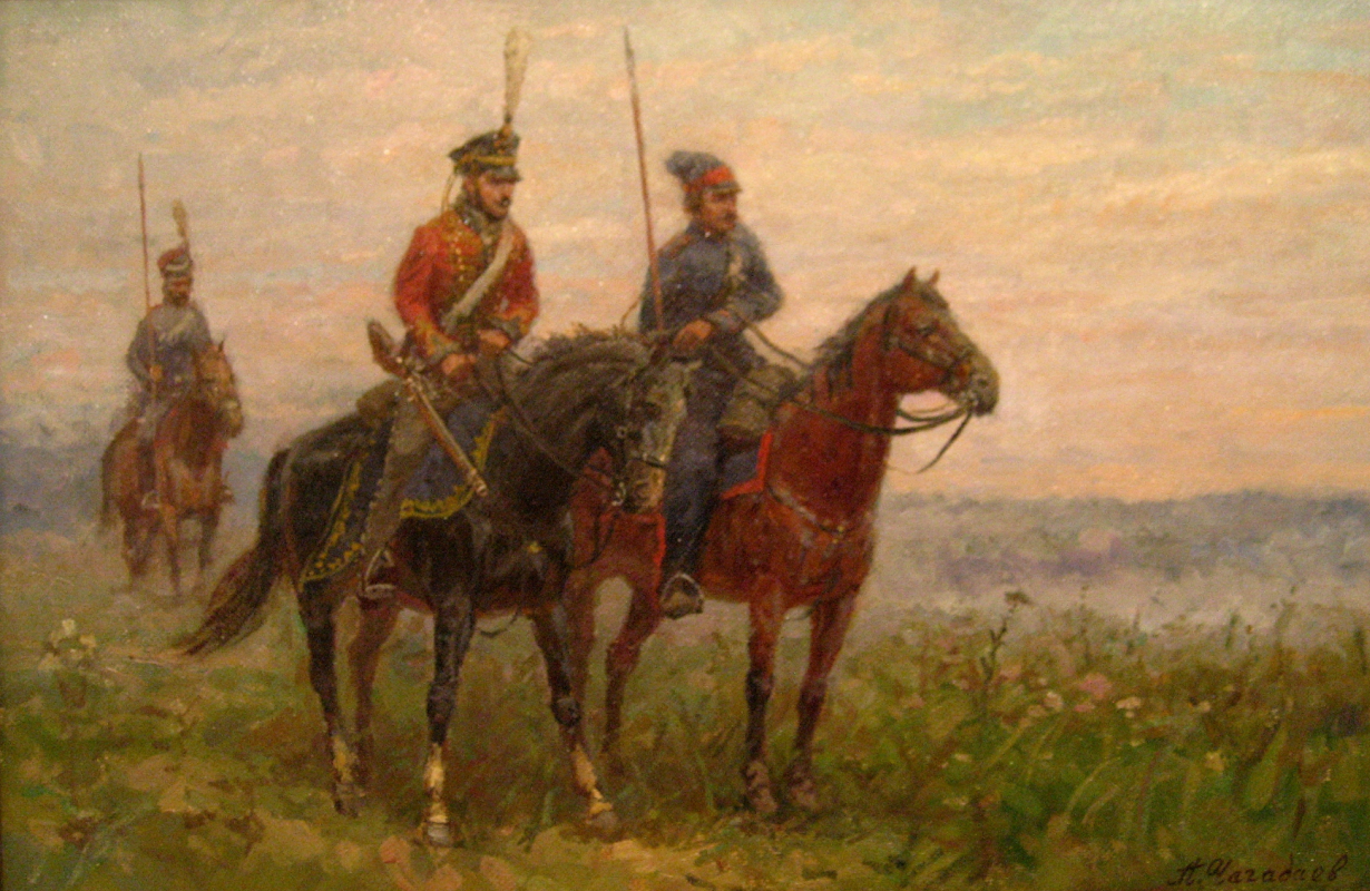 Aleksandr Chagadaev. In the cavalry patrol