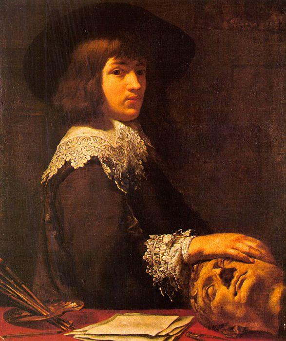 Жан Дапет. Портрет молодого человека с головой