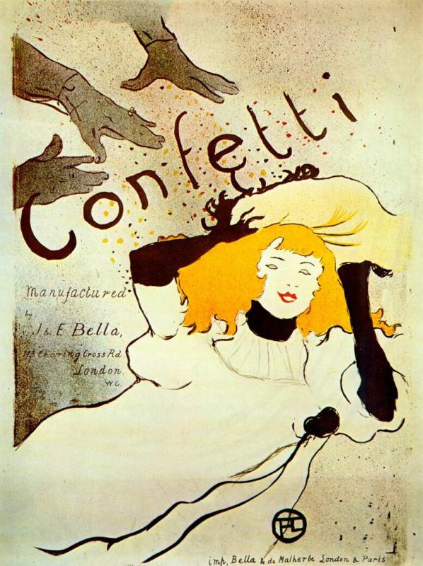 Анри де Тулуз-Лотрек. Конфетти, постер