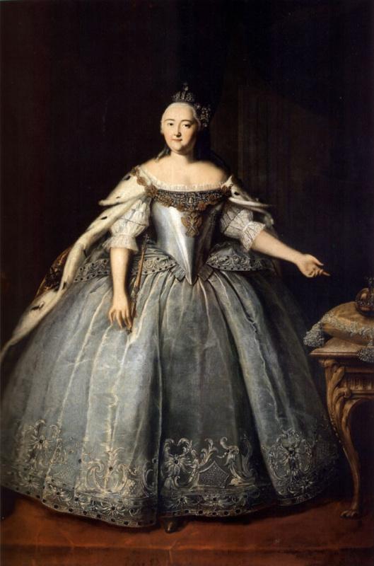 Ivan Yakovlevich Vishnyakov. Portrait of Empress Elizabeth Petrovna