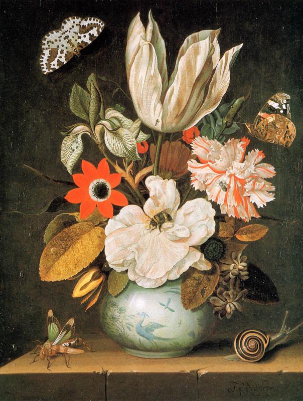 Йоханнес Гоедерт. Натюрморт с цветами