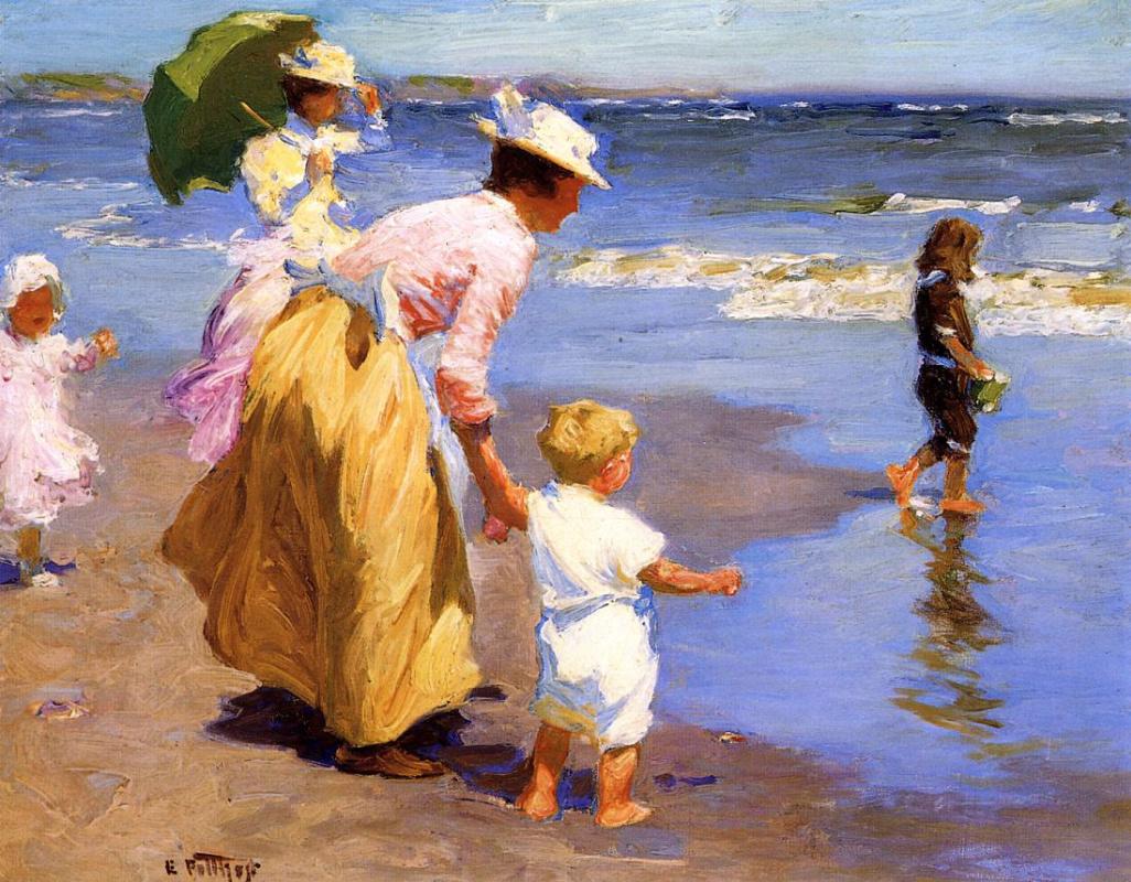 Edward Henry Pottast. On the beach