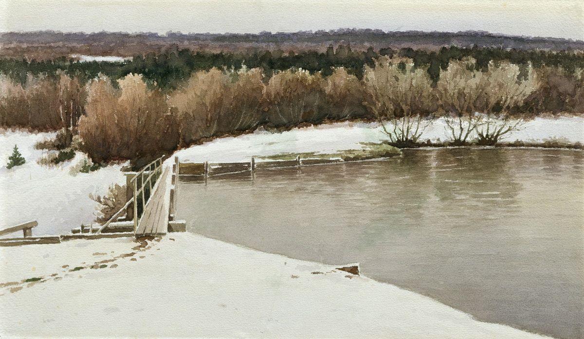 Efim Efimovich Volkov. Winter landscape
