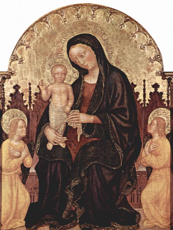 Джентиле да Фабриано. Мадонна с двумя ангелами