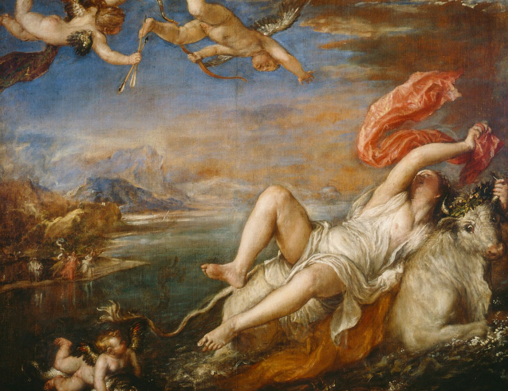 Titian Vecelli. Abduction of Europe