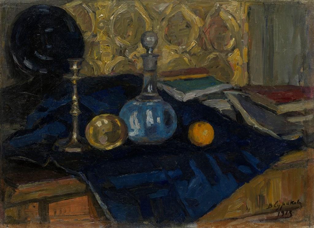 Vasily Ivanovich Surikov. Still life with decanter