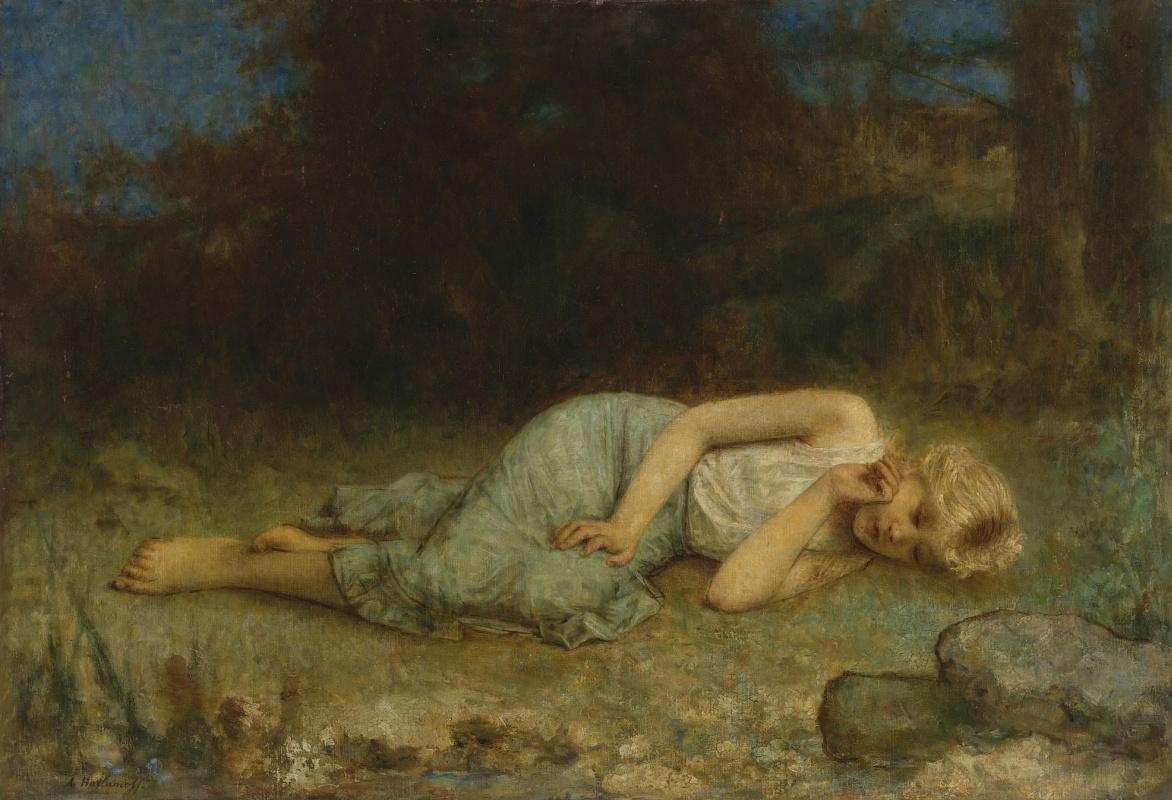 Alexey Alekseevich Kharlamov. Resting girl.