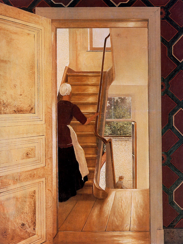 Хендрик Виллем Месдаг. Интерьер с лестницей