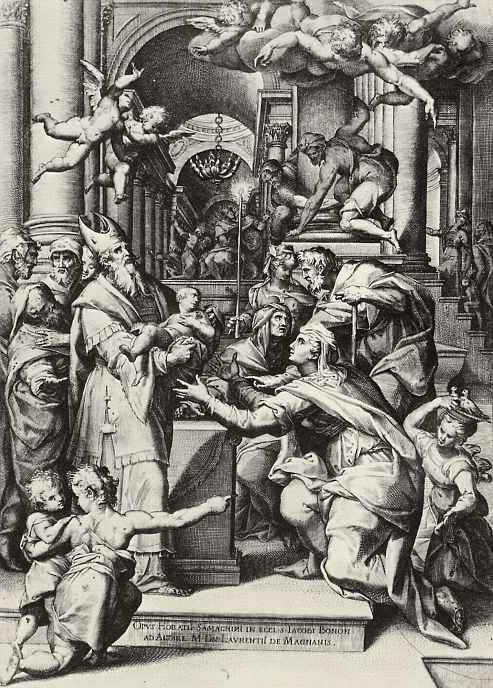 Агостино Карраччи. Принесение младенца Христа во храм
