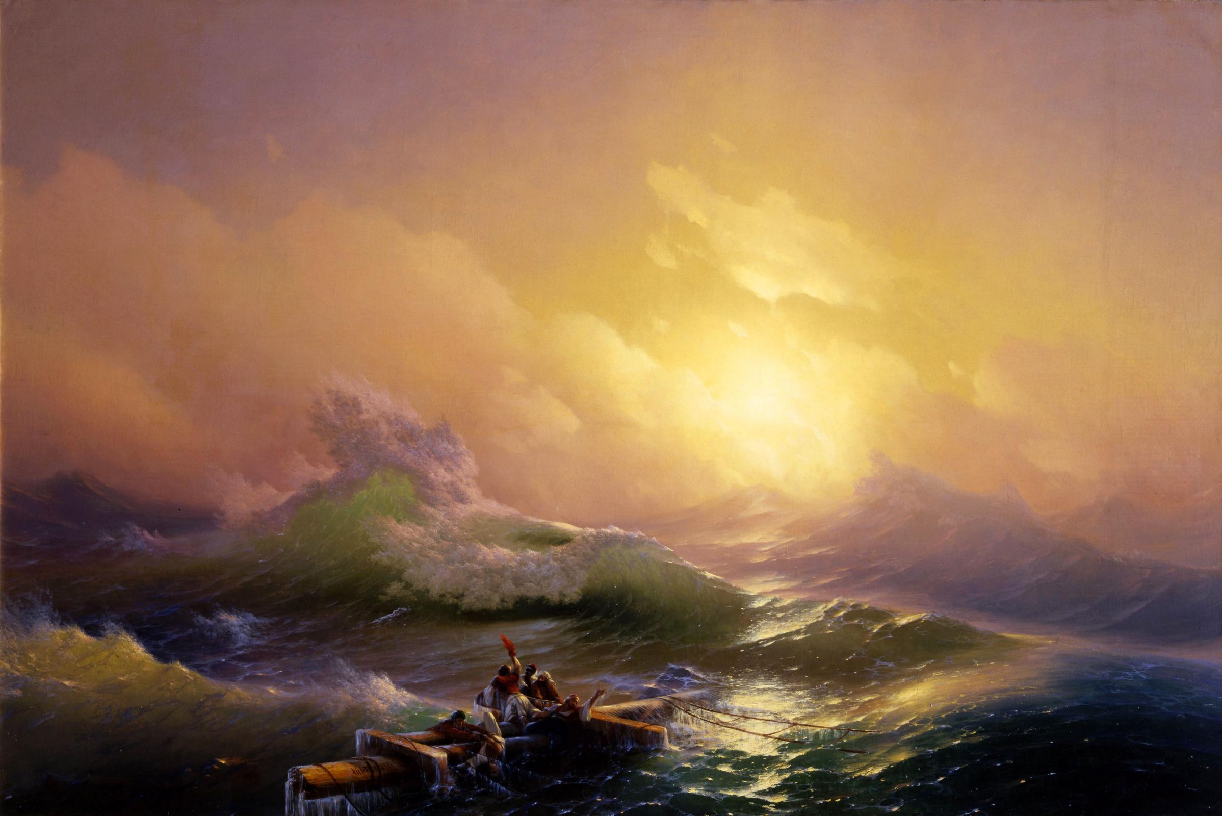 Картина Девятый вал Ивана Константиновича Айвазовского: описание, фото