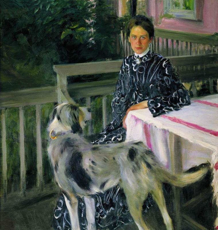 Борис Михайлович Кустодиев. Портрет Юлии Евстафьевны Кустодиевой
