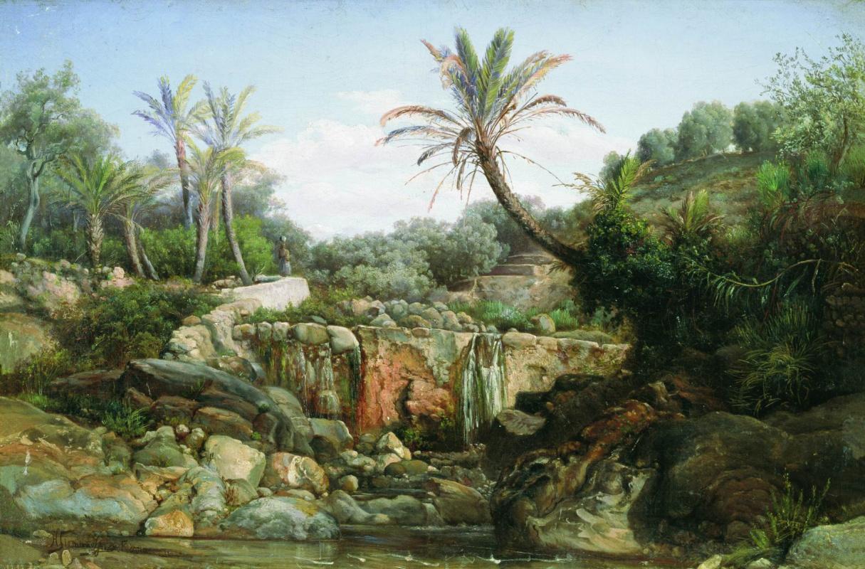 Генрих Ипполитович Семирадский. Oriental landscape
