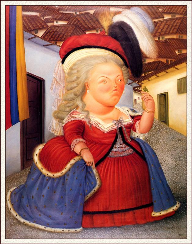 Фернандо Ботеро. Мария-Антуанетта с визитом в Медельине