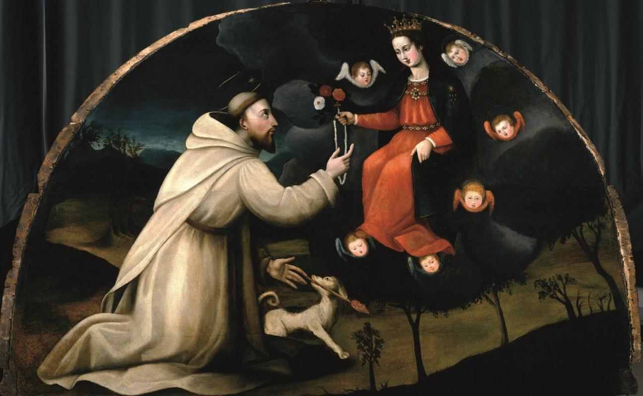 Плавтилла Нелли. Святой Доминик получает розарий