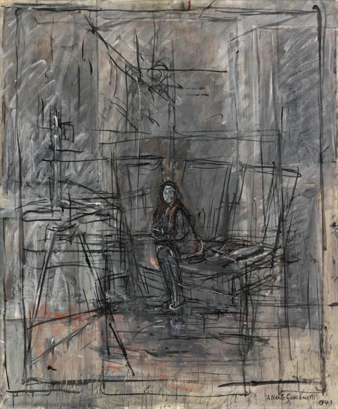 Альберто Джакометти. Изабель в студии