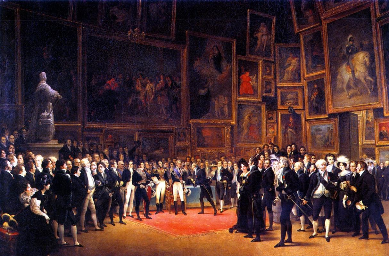 Франсуа Жозеф Хэйм. Карл Х награждает художников, выставлявшихся в Салоне