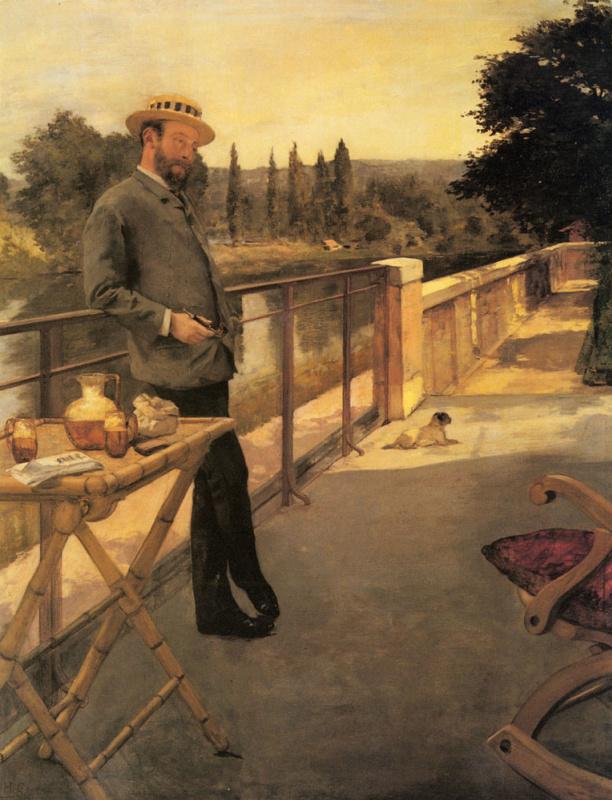 Элегантный человек на террасе
