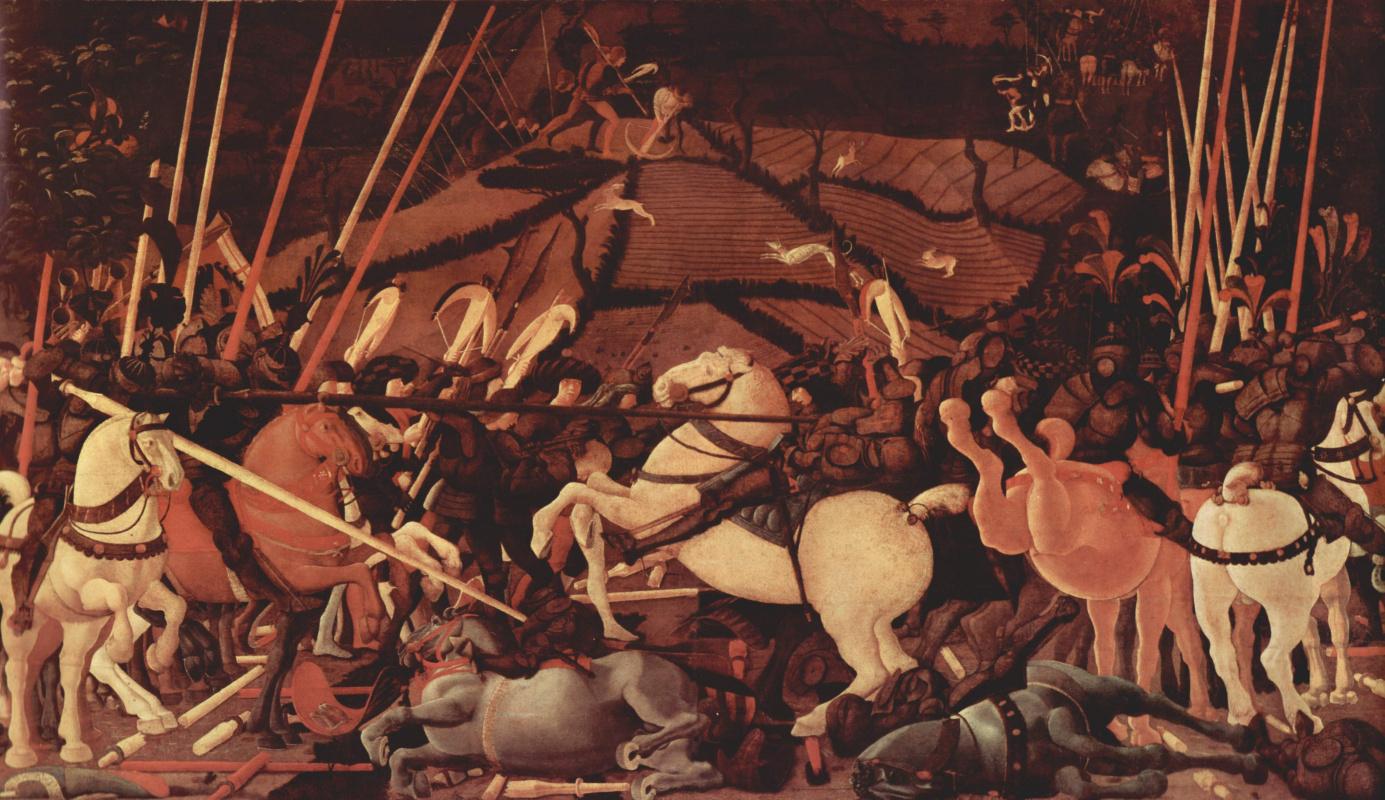 Паоло Уччелло. Три картины о битве при Романо для дворца Медичи во Флоренции. Победа над Бернардино делла Кьярда