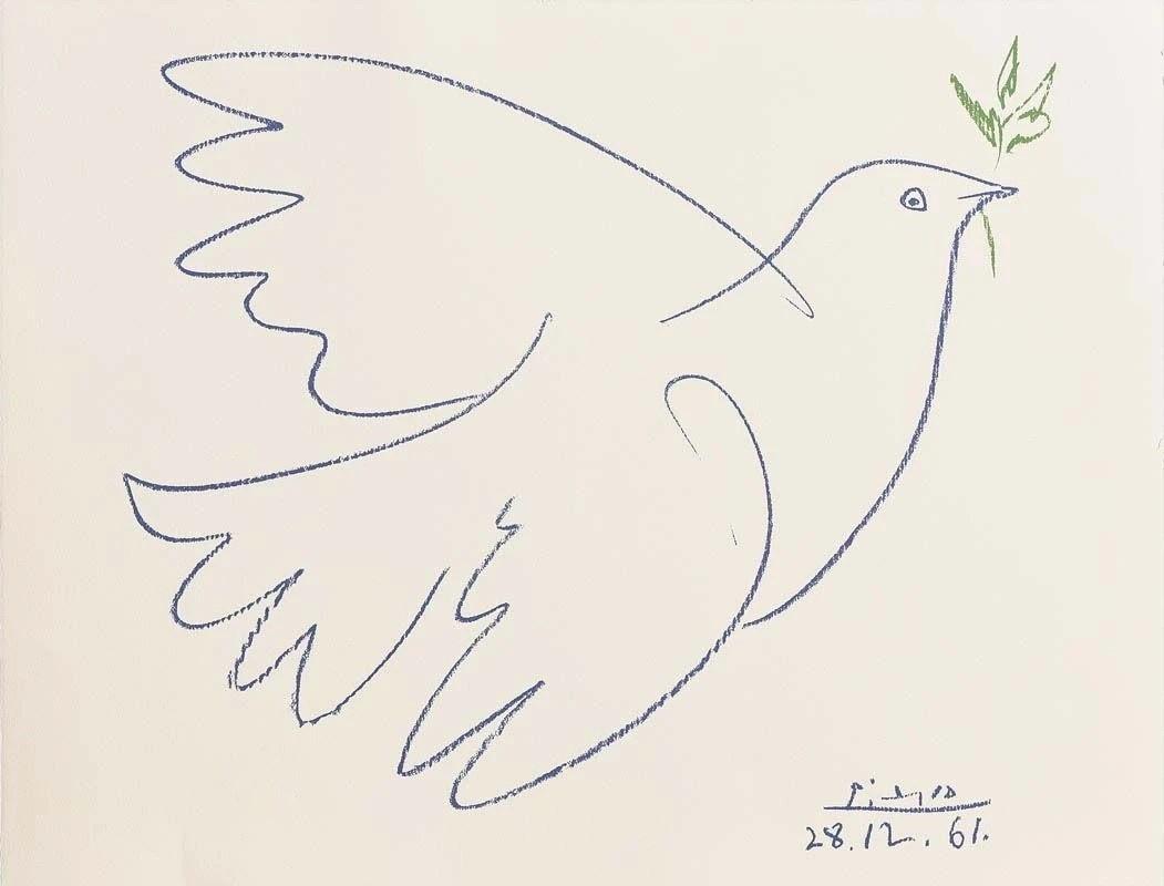 Pablo Picasso. Blue dove of peace