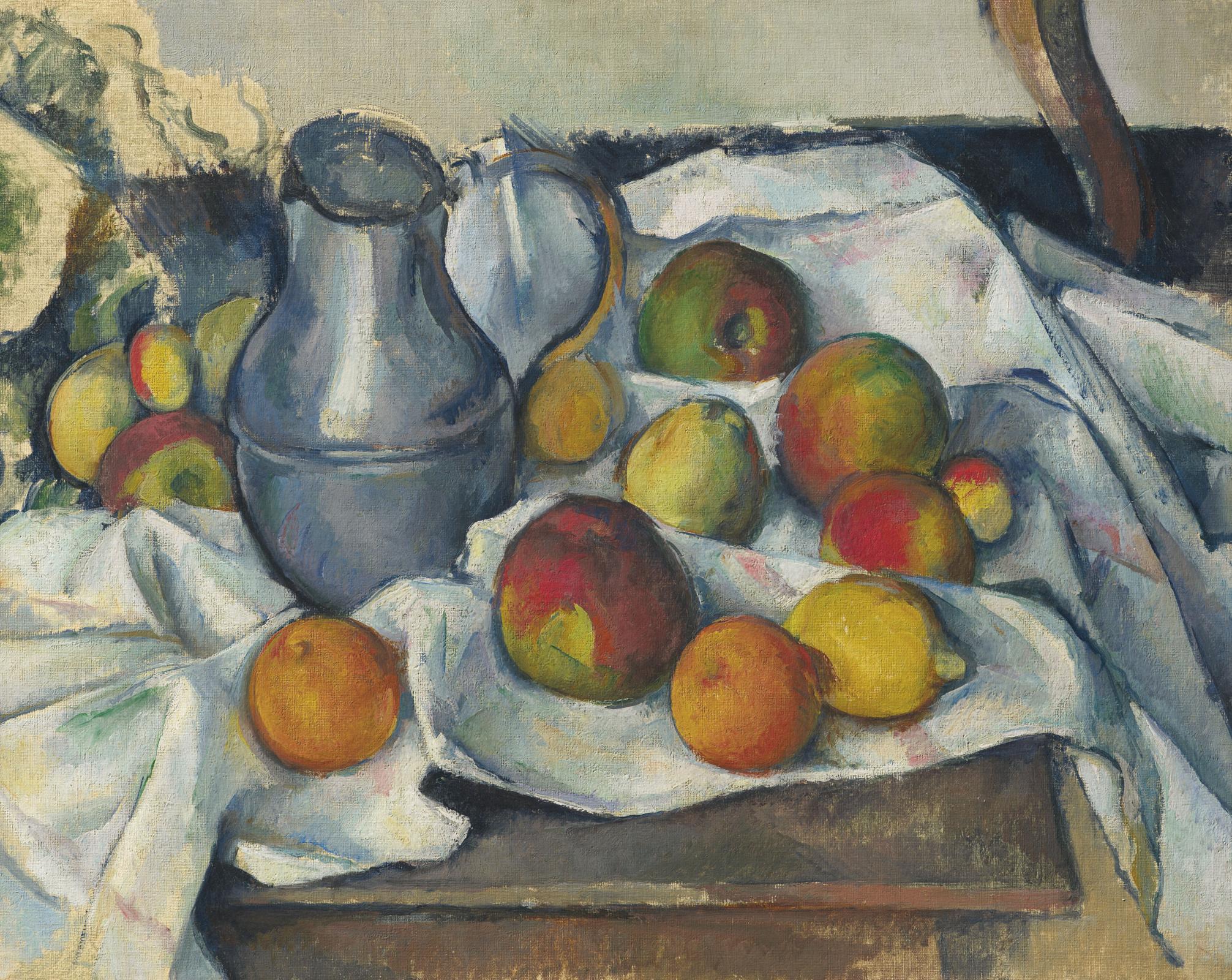 Поль Сезанн. Кувшин и фрукты