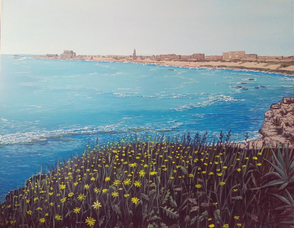 Vladimir Adamovich Ropot. Spring in Caesarea