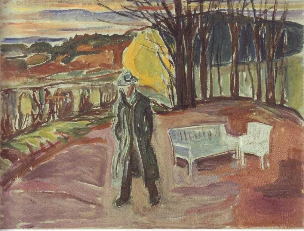 Edvard Munch. Self-portrait in the garden Eckel