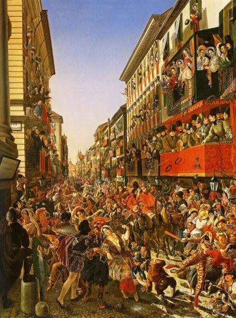А. П. Мясоедов. Карнавал в Риме