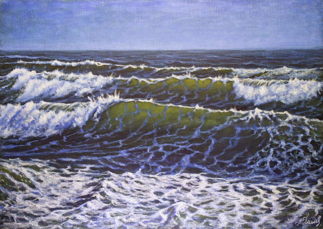 Valery Levchenko. № 620  Морской пейзаж.