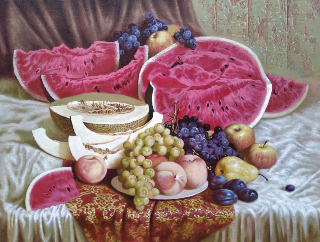 Oleg Anatolyevich Khoroshilov. Still life with watermelon